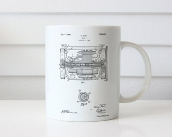 Train Transmission Patent Mug, Locomotive, Henry Ford, Train Engine, Technology Mug, Train Decor, PP1110