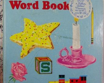 Vintage 1968 Little Golden Book My LITTLE GOLDEN WORD Book Hardcover
