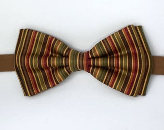 Mens Bronze Bow Tie, Gold Olive Bow Tie, Mens Bow Tie, Fall Bow Tie, Fall Colors Bow Tie, Father Son Bow Tie, Boys Bow Tie, Clip-on Bow Tie