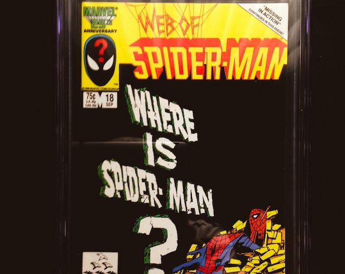 Web of Spiderman #18 CGC 9.4