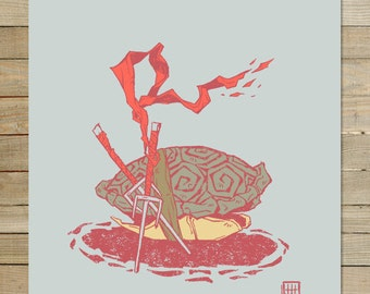 Raphael TMNT - tortues ninja | 9 x 12 en tirage d'Art |