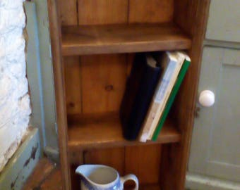 Pine box shelves