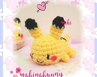 Kawaii Pikachu amigurumi, Pikachu plush, crochet Pikachu, Pokemon amigurumi, Cute plush Pikachu, pokemon plush, cute pikachu crochet
