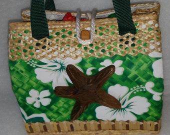 Bahamian Straw Handbag and Mini Wallet