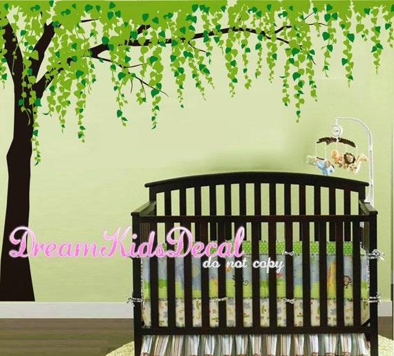 Tree Wall Decals-Cherry Blossom Tree Decal Nursery Wall