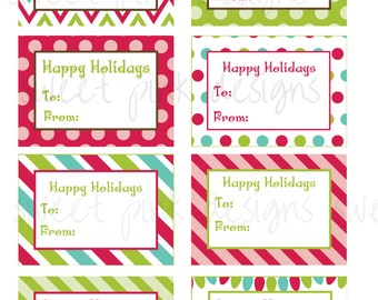 Christmas Gift Tags- Red and Green