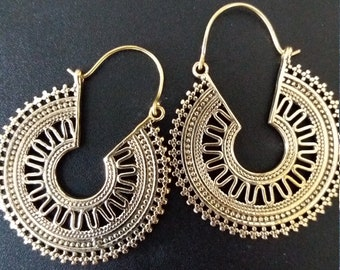 Brass Earrings, Brass Tribal Earrings, Tribal Earrings , Earrings, belly dance