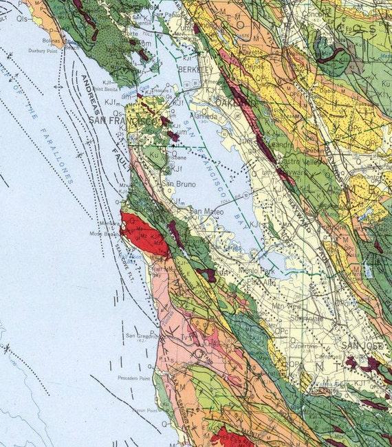 California Map Geologic Map Of California Colorful - California geologic map
