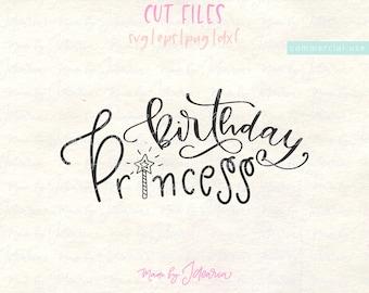 Birthday princess svg, princess svg, birthday girl svg, girl svg, first birthday svg, princess svg file, princess cut file, girl svg file