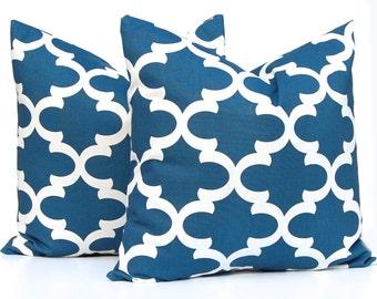 Decorative Pillows - Cadet Blue Pillow Covers - Decorative Throw Pillow - Blue Cushion Covers - Moroccan Pillow Cover - Throw Pillow Cover