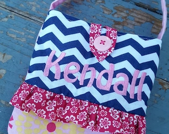 Toddler Purse,  Personalized Little Girl's Purse, Ladybug Toddler Purse, Toddler Chevron Purse