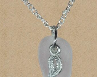 Boho sea glass necklace / boho necklace/ authentic sea glass jewelry / beach glass necklace