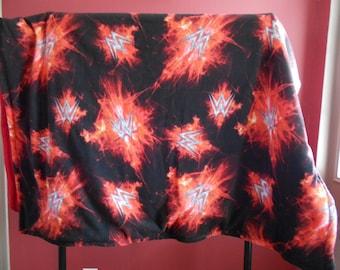 WWE pattern Blanket--Full-sized