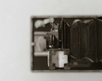 Antique Old Kodak Camera Photo Vintage Cameras Picture Photography Black and White Print Folding Cameras Still Life Old Cameras