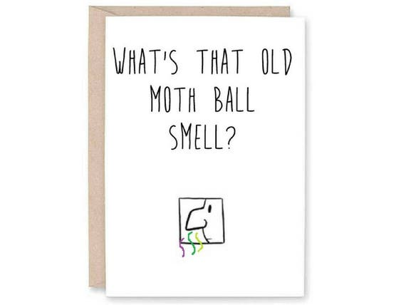 Funny happy birthday card funny old age card funny moth bookmarktalkfo Image collections