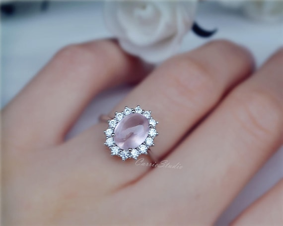 gold kirk three pink wedding stones charlotte diamond sparta stone rings kara with engagement ring white sapphire