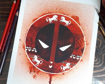 Limited reproduction - Deadpool logo
