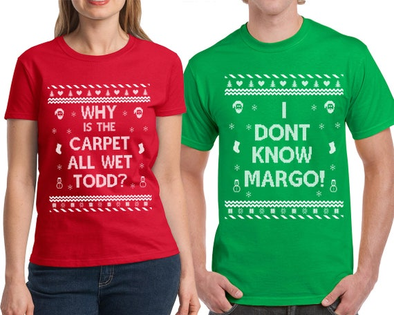 Christmas in July, Todd and Margo, Christmas Vacation, Couple Shirts, Ugly Shirt, Funny Christmas, Christmas in July Party