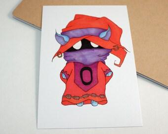 Mini Orko - 4x6 Print [ Masters of the Universe  / Fan Art / Chibi ]