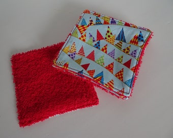 set of 5 wipes flags red sponge