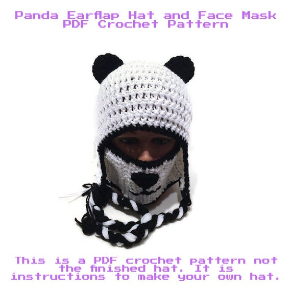 Panda Hat And Face Mask Pattern Panda Hat Pattern Diy