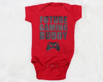 Future Gamer Baby Baby Clothes, Baby Bodysuit, Baby Shower Gift, Baby Boy, Funny Baby Clothes, Baby Gamer, Baby Onepiece #27