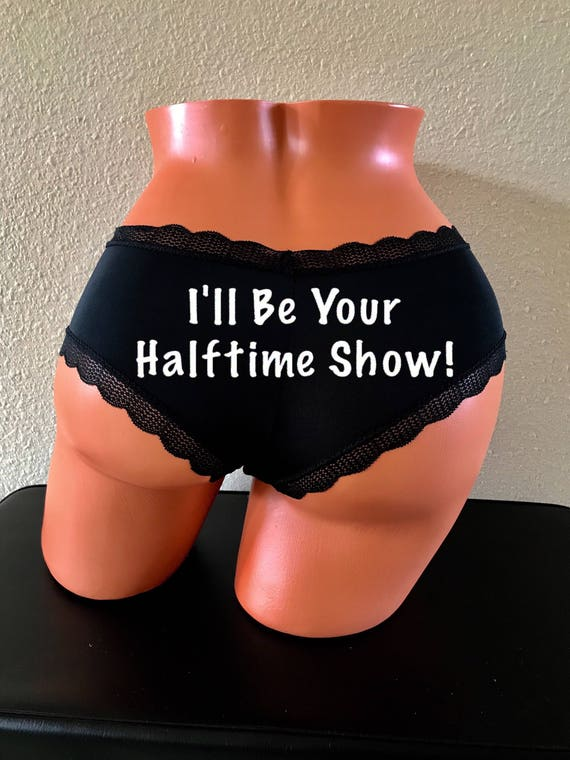I'll Be Your Halftime Show black cheeky panty.