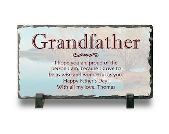 Customized Slate Plaque for Grandpa