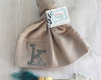 Custom Baby Knot Hat - Geometic Monogram- You Pick ONE Personalized Hat