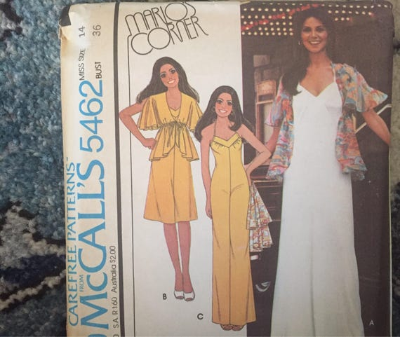 1970s Sewing Patterns, Vintage McCalls Sewing Pattern Marios Corner ...