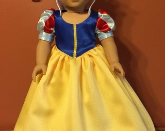 "Snow White 18"" doll dress"