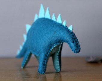 A Small Felt Stegosaurus