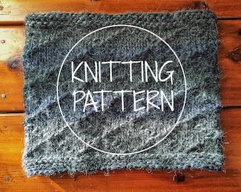 KNITTING PATTERN - Castle Danger Cowl - Knitting Pattern - Chunky Circle Scarf