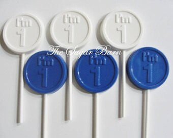 BIRTHDAY CHOCOLATE LOLLIPOP*12 Count*1st Birthday**I'm 1 Lollipops*Baby's First Birthday*1 Year Old Party Favors*#1 Birthday Party*Number 1