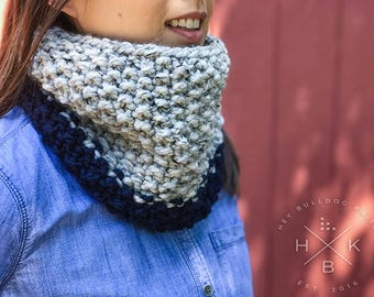 The Groton Cowl in Navy Blue
