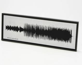 Sound and Color - Song SoundWave Art - Music Song Art Print, Created From Entire Song