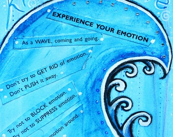 Mindfulness- Ride The Wave- A4 Archival Quality Art Print