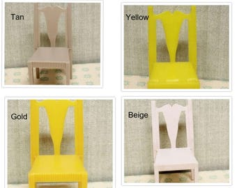 Dollhouse dining room chairs furniture , Hard plastic Superior 3/4 or 1:16 inch scale, Fits with Renwal, Ideal, Marxie Mansion