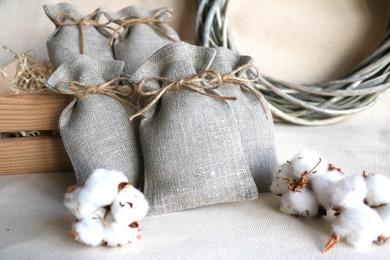 burlap wedding favor bags wedding gift bags Natural Rustic