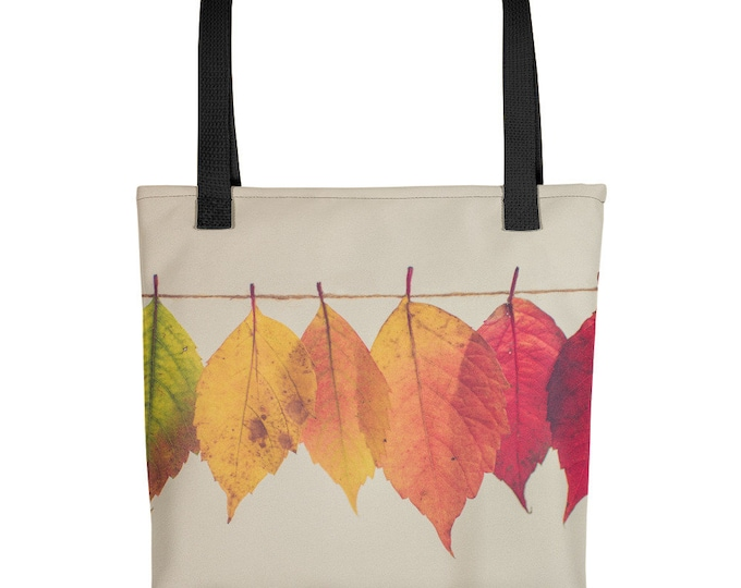 Tote Bag Leaves On A String