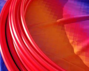 "Fire Red Polypro Hoop--5/8"" hula hoop--Advanced"