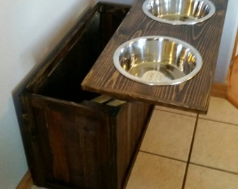 dane feeders listing with feeder bowl storage custom great il elevated xl stand raised personalized dog