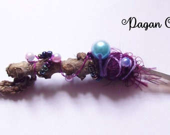 Tiny lovely fae wand- wicca- fairy-goddess-magical-nature-faerie-celtic-mother goddess-nature