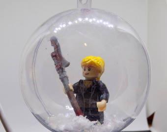 Buffy figure with Scythe christmas bauble 7cm - handmade #363