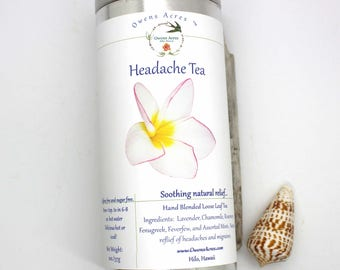 Herbal Tea, Throbbing Heads, Tea, Tisane, Tea in Tin, Gift Tea, Loose Tea, Caffeine Free, Sugar Free, Hand Blended, Hand Made