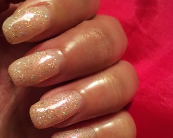 Twilight Holo Glitter Nail Polish, Handmade Vegan Nail Varnish