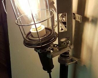 Industrial style pillar drill lamp