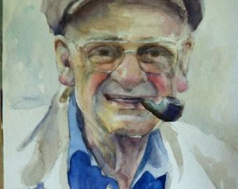 portrait painting,custom portrait, custom watercolour portrait, memory portrait