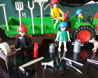 Vintage Playmobil Farmer Deluxe Set