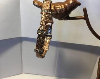 vintage rose gold bracelet, medieval design